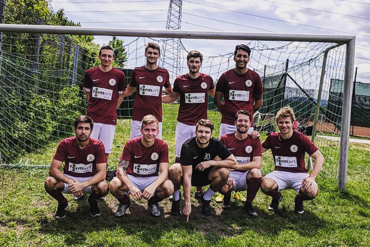 Mannschaftsfoto 2018 - Knöpflemischung - FFBÖ Kleinfeldliga Wien Mitte