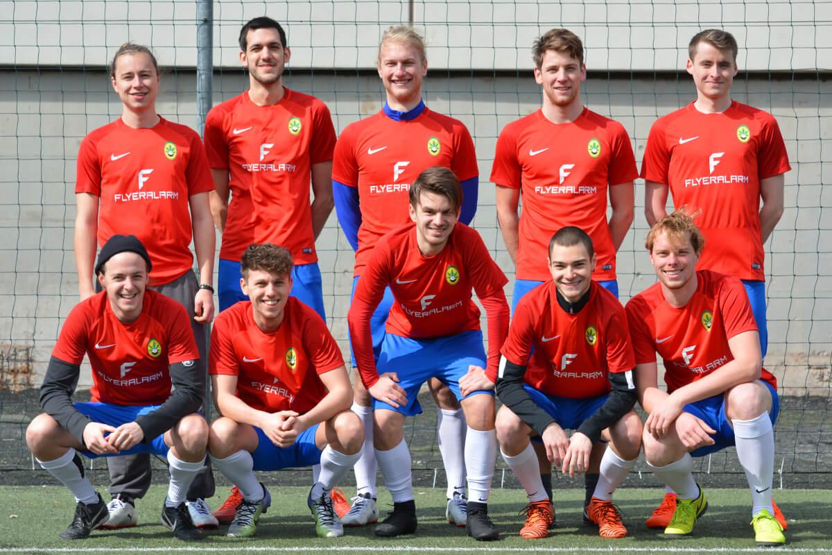 Mannschaftsfoto - Die milden Kerle - Kleinfeldliga Wien West