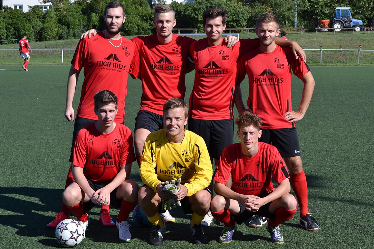 Mannschaftsfoto - FC High Hills - FFBÖ Kleinfeldliga Wien West