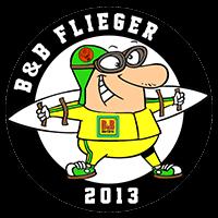 Wappen Logo - B&B Flieger - FFBÖ Kleinfeldliga Wien Süd